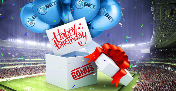 1xBet on your birthday